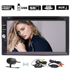 2 Din Car DVD Stereo Lettore CD Ricevitore a Dash Unità a doppia Din Unità Radio Navigatore GPS Tre tipi di interfaccia utente Bluetooth Touchscreen