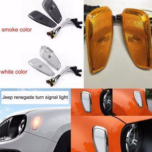 Auto-styling Accessori auto Indicatori di direzione Luci di testa Luci laterali per Jeep Renegade 2015 ~ 2016 Riflessione segnale di avvertimento copertura della luce