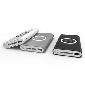 2018 Caricabatterie wireless Qi 10000mAh Caricabatterie portatile USB Power Bank Wireless per iPhone X 8 Plus Samsung Note 8 S8 PowerBank
