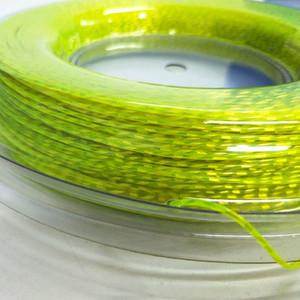 Флуоресцентный зеленый нейлон мононить теннис струна нити синтетический 1,35 мм струнного теннис для кишечника ракетки 20ой бобины