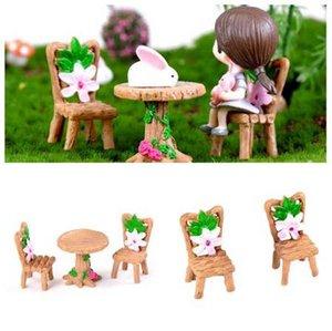 7 estilo bonito mesa de mesa cadeira de vime diy artesanato casa jardim enfeites de decoração micro paisagem