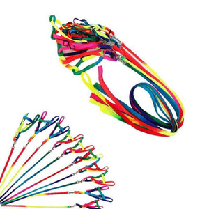 Rainbow Pet Collier Collier Harnais Laisse 120cm Harnais de marche douce Plafe de traction colorée et durable Rope Nylon GGA832