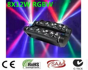 Nouvelle Lyre Led araignée lumière 8x12W 4in1 RGBW LED Light Party DJ éclairage du faisceau Moving Head DMX DJ Lumière