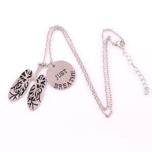 Личность ожерелье дизайн унисекс легких шаблон очарование просто дышать написано в личности подарок сплава цинка обеспечивают Dropshipping