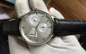 Мужские наручные часы Top Мужские прозрачные ультратонкие часы Master Black с циферблатом и мощным кожаным ремешком
