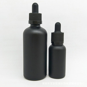15ml 30ml Refillable Empty Matte Black Glass Aromatherapy Container Eye Dropper Essential Oil Bottle Travel Pot