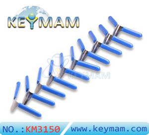 2018 Nuevo KLOM 10pcs Candado Calce Selecciones Aviones de la carpeta fijados Candado Recogida de cerrajería Herramientas de selección de la cerradura de desbloqueo de Lockpick envío