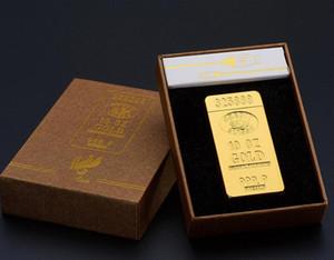 Oro clásico Barras de impulsos eléctricos de arco de cigarrillos más ligero de carga USB más ligero Hombres USB encendedor de regalos de empresa Encendedores Box