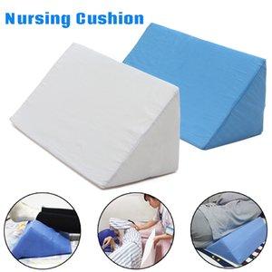KiWarm Blue White 50x20x14cm Sponge Bed Nursing Pillow Cushion Washable Lumbar Support 20x10x5.5 inch Foam Bed Pillow