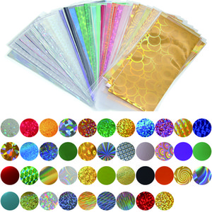 Stickers & Decals 42 Sheets 35cm*4cm Mix Color Nail Transfer Foils, Full Cover Nails Sticker Art For DIY, Glitter 3D Nail Art