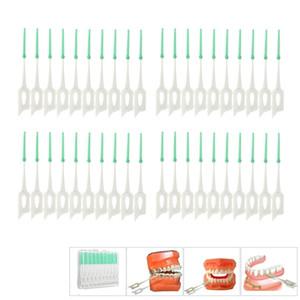 Erwachsene Interdentalbürsten säubern zwischen Zahn-Floss-Bürsten-Zahnstocher ToothBrush zahnmedizinisches Mundpflege-Werkzeug PP + TPE 40Pcs / box weich