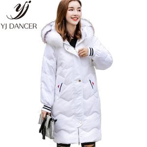 Down jacket 2018 New Woman high quality long Parkas Jacket Thick Windbreaker Warm Hooded  fur collar Coat Loose Winter coat