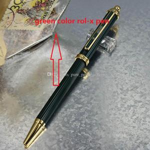 Pluma de patern de lujo Corona de metal Cabeza de las torres Verde Estilo de dibujo Clip dorado Bolígrafo para negocios