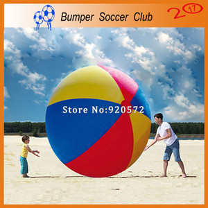 Free shipping Free pump 2m outdoor sport games colorful inflatable beach ball giant toy ball for kids