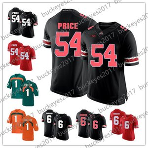Ohio State Buckeyes # 54 Billy Price 6 Sam Hubbard Jessie Bates III Negro Blanco Naranja Rojo 2018 Draft NCAA College Football Jerseys