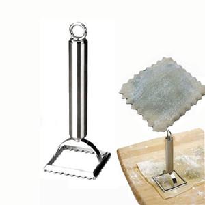 Acier inoxydable Boulette Moule Maker forme carrée pâtisserie Dumpling Maker Ravioli Coupe Wrapper Timbres Pâtes avec poignée