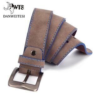 [DWTS] Cinturón de moda para hombres cinturones de diseño para hombres de alta calidad con hebilla macho cinturones de cuero para Jeans ceinture homme