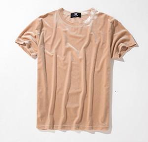 Camiseta manga curta O pescoço Tecido de veludo Hip Femininos Verão Hop Camiseta Ganhos Homens T-shirt Designer T-shirts Moda Streetwear