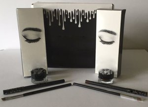 Гель для бровей Liner Kit BRAND NEW Jenner Kliner в цвете BRONZE / CHAMELEON с подводкой для глаз Кисточка для гелевых горшков (1 комплект = 1 подводка для глаз + 1 кисточка + 1 крем)