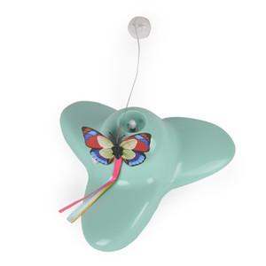 Nova borboleta Feifei elétrico brinquedo cat turntable puzzle interativo toy pet borboleta provocação cat pólo venda quente