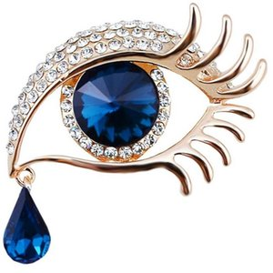 5.4x4.6mm Women's big eye Vintage Decoration zinc alloy fashion brooches with stones free shipping