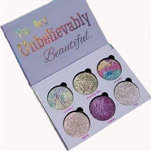 Amor luxe belleza fantasía sombra de ojos paleta 6 colores maquillaje increíblemente hermosos resaltadores paleta de polvo envío gratis
