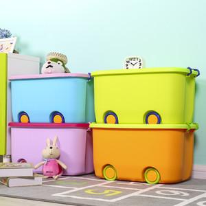 Extra Large Giocattoli di finitura in plastica del fumetto per bambini Pulley Fatturato riporre snack Libri Tool Box di stoccaggio