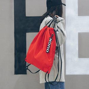 Seilrucksack Kordelzug Zubehör Tasche Dual-Zweck Bündel Ziehen Outdoor Sports TravelInding Rucksack Mode Wasserdichte Fashio Sumt