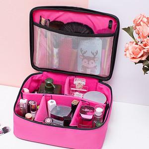 Bolsa de maquillaje de múltiples funciones del almacenaje Señora del tamaño grande de Maquillaje impermeable del maquillaje de la caja cosmética con cremallera bolsa