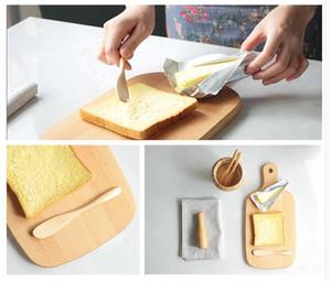 Facas de queijo 4 PÇS / SET Log Natural Cortadores De Madeira Faca De Manteiga De Queijo De Geléia Faca De Queijo Daub Bakeware