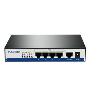 Haute puissance 5 port poe commutateur gigabit 4 port 10/100/1000 m poe 48 v 2a Ieee 802.3af / à ethernet réseau نشط POE pour 3MP HD IPC