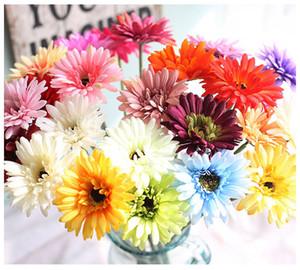 Ipek Transvaal Papatya 23 Renkler Için 55 cm Barberton Papatya Yapay Çiçek Güneş Çiçek Düğün Dekorasyon Ev Dekorasyon