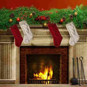 Noel Stocking Uzun Tığ Örme Noel Stocking Noel Ağacı Süsleri Açık Noel Süslemeleri Festivali Parti Süsleme