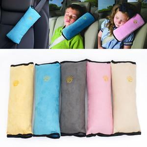 Coussins d'oreiller de ceinture de sécurité enfants auto oreiller ceinture de sécurité de voiture protéger épaulière ajuster le véhicule oreiller décoratif 5 couleur WX-S01