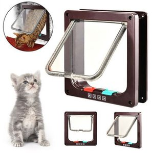4 voies Pet Chiot Chien Fournitures Verrouillage Verrouillable Safe Flap Door Pet porte trappe café 4 Positions pour chat chien