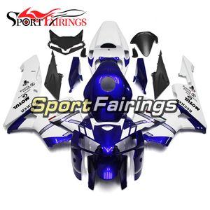 Синий белый обтекатели для Honda CBR600RR 2005 2006 CBR600 RR 05 06 впрыска ABS пластик мотоцикл обтекатель комплект корпуса обвес корпуса новый