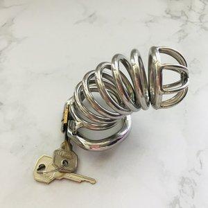 Корот мужской S031 Chastity Lock Новые устройства Chasity Cage Длинные Конструированные устройства для мужчин Замок MVJCA