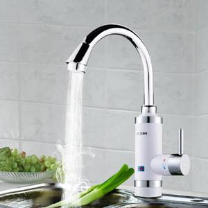 Calentador de agua eléctrico caliente del grifo Calentador de agua eléctrico Grifo de la cocina sin tanque Pantalla digital Pantalla instantánea del grifo de agua Montaje