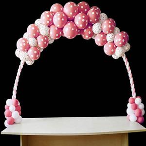 Nova Moda Decoração de Casamento Balão Display Frame Balão Arco Destacável Portátil Arch Pole Suporte Quadro