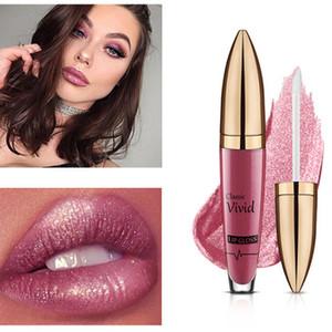 Pudaier Antihaft-Becher Nahrhafte Flüssigkeit Lipgloss Glitter Flip 18 Farben Glitter Pigment Diamant Wasserdicht Flüssig Lippenstift