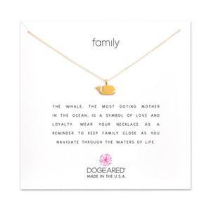 Dogeared колье ожерелья с карты золото серебряный Кит Ожерелье для мода женщины ювелирные изделия семейный подарок
