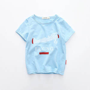 Cool Boys Modal Essentials Soft Round Neck manches courtes Motif Avion T-shirt 90-120cm Enfants T-shirt Sweat Confortable