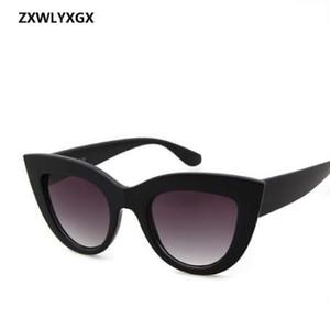 ZXWLYXGX 2018 Nuevas gafas de sol Retro CatEye Gafas de sol Lady Brand Designer Vintage Gafas de sol negras Mujeres Mujeres UV400