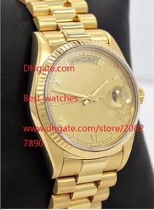 Fabbrica fornitore di lusso Sapphire 36 millimetri 18 carati d'oro data 18038 orologi meccanici automatici da uomo