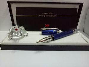 Alta qualità fredda Ocean Blue Penna roller corpo per la Business Writing regalo Penne con cristallo di alta