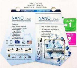 NANO Flüssiges Technologie Displayschutz gehärtetes Glas Invisible Liquid Screen 9H 5D Full Cover für iPhone X Anmerkung 5 Samsung A8