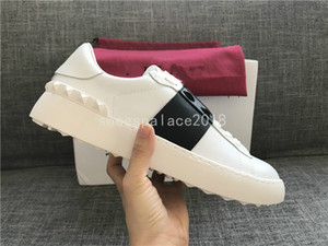 2018 Band Lady Comfort Casual Chaussure Habillée Sport Sneaker Hommes Casual Chaussures En Cuir Designer Femmes Loisir Marche Baskets Lowtop Sneakers