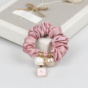 CC Pérolas anéis de cabelo cordas de cabelo frasco de perfume pingente simples cocar faixa de borracha enfeites de cabelo presentes contador