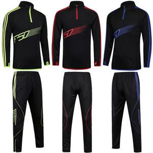 2018 Abbigliamento sportivo da allenamento Running Football Set Long Jacket Pants Suit Uomo Kids Soccer Training Skinny Leg Pants Bambini XXS-M sportswear