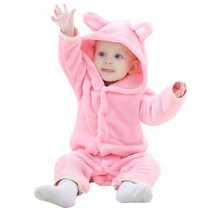 طفلة الملابس 2017 الجديدة الوليد ملابس اطفال الفانيلا بنات رومبير حللا الدب الشكل الحيواني طويلة الأكمام الطفل الرضيع رومبير المنتج